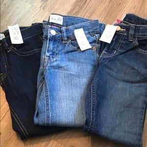 Bundle of 3 pairs of boot cut stretch jeans